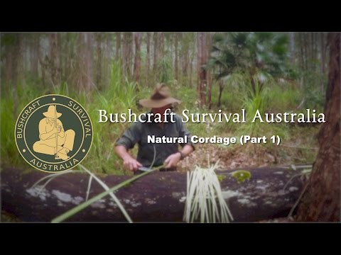 Bushcraft Survival Australia - Natural Cordage (Part 1)