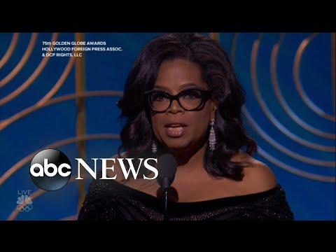 Hashtag Oprah2020 goes viral during Golden Globes