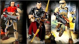 LEGO Star Wars 75523 Штурмовик со Скарифа, 75524 Чиррут Имве, 75525 Бэйз Мальбус