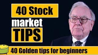40 Stock market tips for beginners in 2019