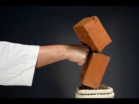 How To Break a Brick With Your Hand