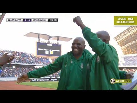 Zesco United Vs Mamelodi Sundowns (2-1) - CAF Ligue Des Champions