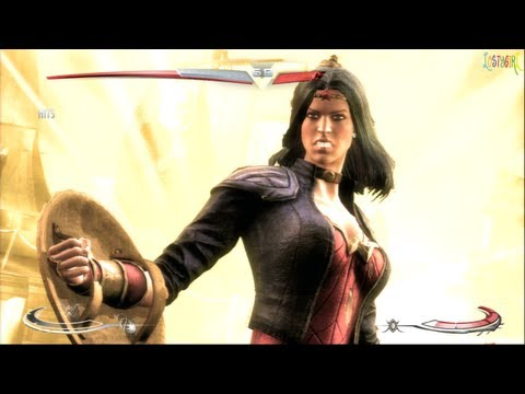 Injustice Gods Among Us Wonder Woman #600 Costume Gameplay