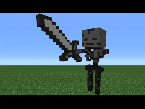 Minecraft Tutorial: How To Make A Wither Skeleton Statue ...