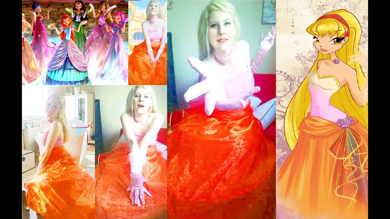 Winx club real live stella ballgown cosplay makeup youtube winx club real live stella ballgown cosplay makeup baditri Gallery