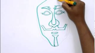 How to Draw a Guy Fawkes