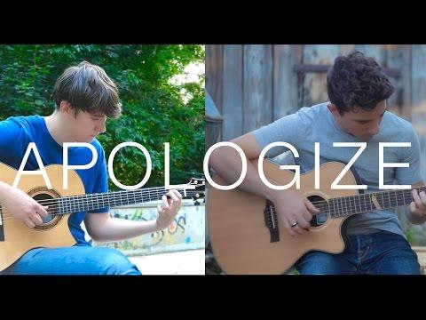 Apologize - OneRepublic (fingerstyle guitar cover by Peter Gergely & Eddie van der Meer)