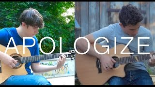 Apologize - OneRepublic (fingerstyle guitar cover by Peter Gergely & Eddie van der Meer)