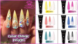 NEW MAKARTT POLYGEL KIT!! Color Changing Effect! Unbox, Review & Tutorial
