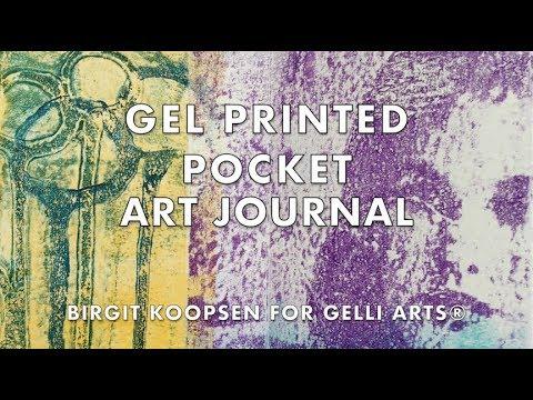 Gel Printed Pocket Art Journal with Gelli Arts® Printing Plates