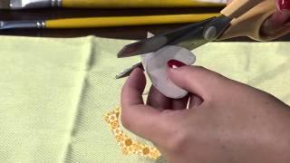 Pintura em tecido barrado corujas por Eliana Rolin Parte 1