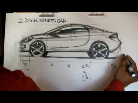 How to Draw Cars : Sports Car Proportions - YouTube