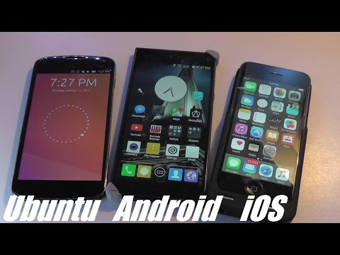 Comparison: Ubuntu Touch OS vs. Android vs. iOS (Apple)