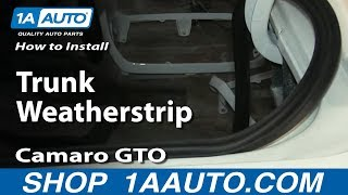 How To Install Replace Trunk Weatherstrip Pontiac Ventura Chevelle Camaro GTO Firebird and More