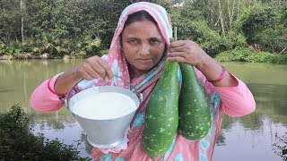 Bengali Dudh Kodu Payesh Recipe FARM FRESH Bottle Gourd With Milk Cooking Homemade Dessert Dudh Lau