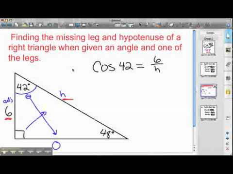 how to find the hypotenuse of a right angle