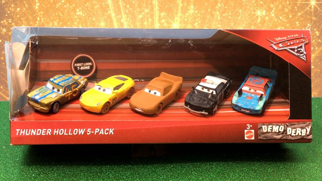 Disney cars 3 toys thunder hollow 5 pack tbone frances beltline chester whipplefilter apb - Coloriage cars 3 thunder hollow ...