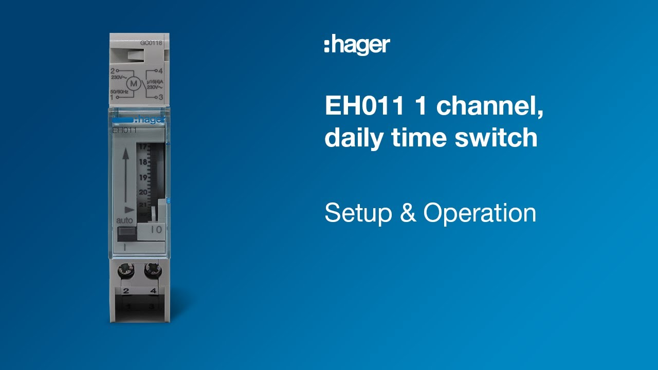 tutorial the eh011 daily time switch [ 1280 x 720 Pixel ]