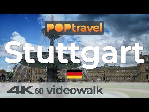 Walking in STUTTGART / Germany 🇩🇪- 4K 60fps (UHD)