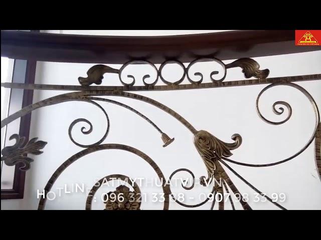 Ban công sắt nghệ thuật thi công tại biệt thự CẦU GIẤY - HÀ NỘI