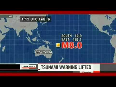 Magnitude 8 Solomon Island Quake-Tsunami Warning Lifted 2_6_13