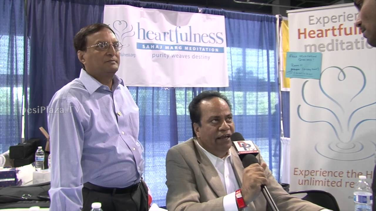 Representative from Heartfulness Meditation speaking to Desiplaza TV at ATA Convention 2016.