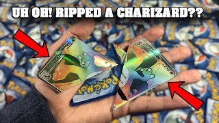 INSANE POKEMON SAVE IT OR RIP IT! HYPER RARE CHARIZARD EDITION! **try not to cry**