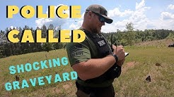 Police Called Unbelievable open grave found exploring lost graveyard - metal detecting series