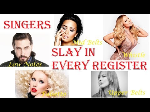 Famous Singers SLAY In EVERY VOCAL REGISTER