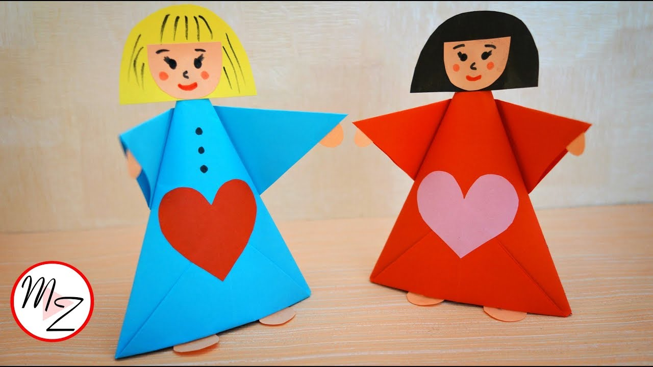 Paper Doll Making Tutorial Paper Crafts For Kids Diy Easy Origami Fo Easy Origami For Kids Origami Easy Doll Diy Crafts