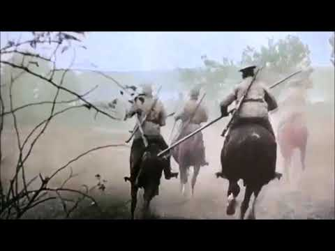 "Imperial Russia (1721-1917) Military March ""Прощание славянки"" WWI Footage with color"