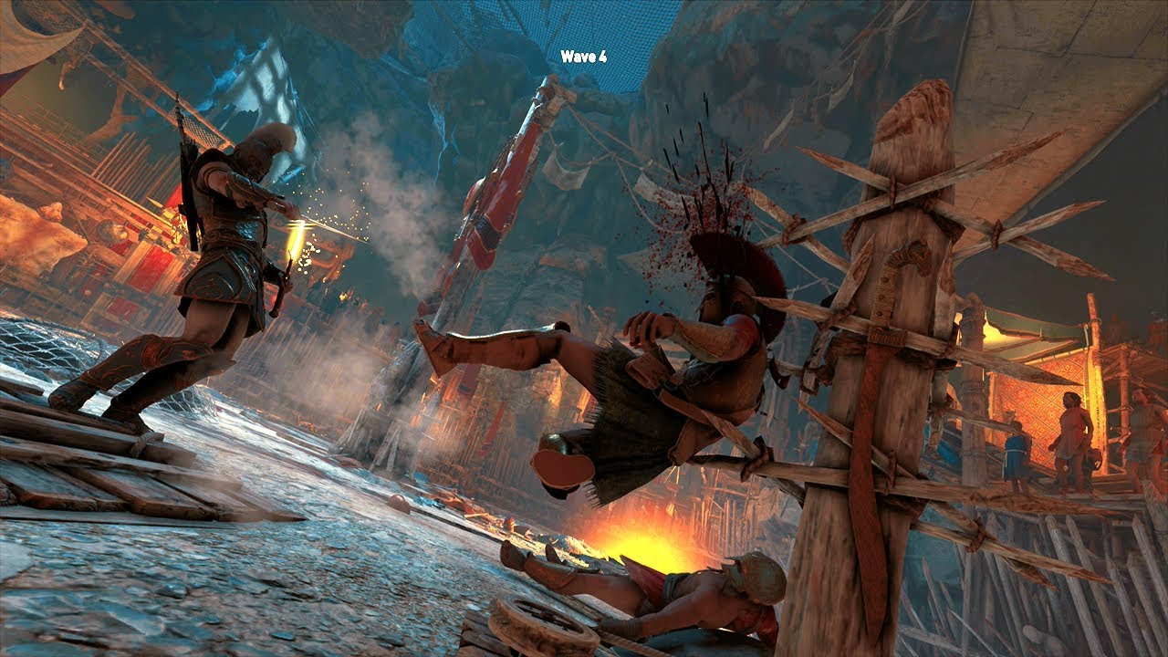 Assassin S Creed Odyssey Brutal Warrior Combat Gameplay Arena