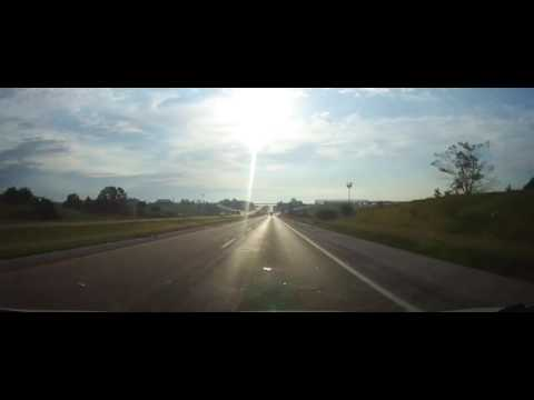 Driving on Interstate 80 in Iowa from Pottawattamie County to Des Moines