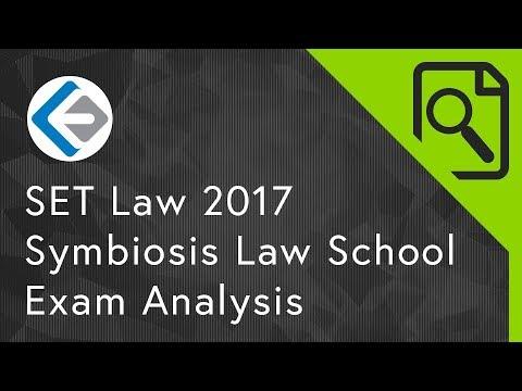 Exam Analysis: SET Law 2017 | Symbiosis Law School