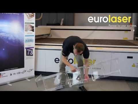 Acrylic display stand up  Prospektständer aus Acryl  eurolaser