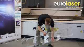 Acrylic Display Stand Up - Prospektständer Aus Acryl - Eurolaser
