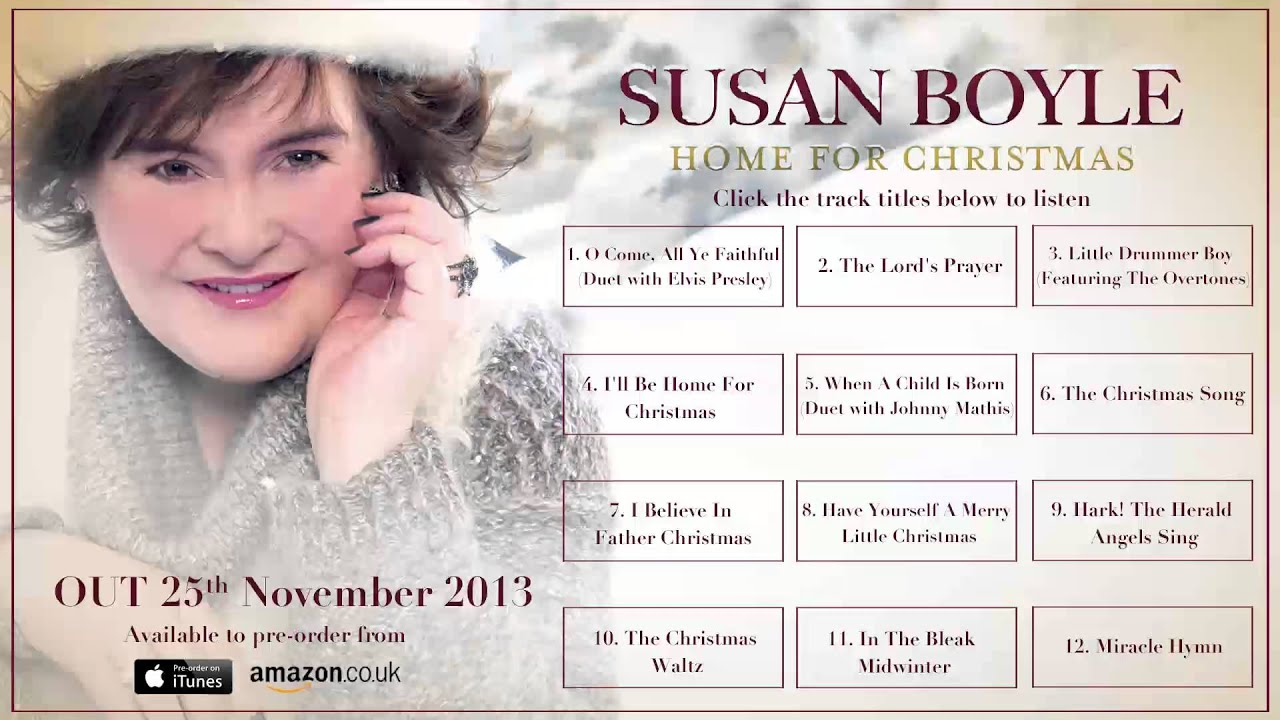 Susan Boyle 'Home For Christmas' PRE-ORDER NOW - YouTube