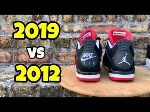 """Jordan 4 """"Bred"""" 2012 vs 2019 - YouTube"""