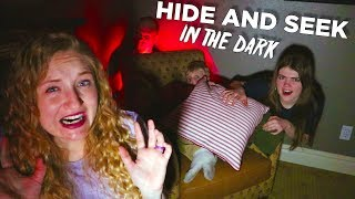 Hide and Seek in the Dark with That YouTub3 Family! Spooky Family Night Games! / The Beach House