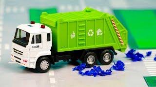 Мультфильм про Мусоровоз вывозит мусор, Монстер Трак, эвакуатор полицейский 306 Серия Мир Машинок