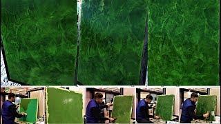 Видео урок по венецианской штукатурке  Как сделать малахит на стенах!