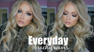 everyday beachy loose waves hair tutorial