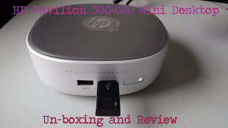 hp pavilion 300 020 mini desktop un boxing and review
