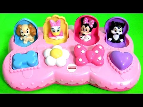 Thumbnail: Disney Baby Minnie Mouse Pop Up Surprise Pals Toys Eggs with Figaro Daisy Duck by Funtoyscollector