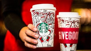 """Conservatives Claim Starbucks' New Holiday Cup Promotes """"Gay Agenda"""""""