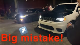 Cocky mustang Owner calls out TrackHawk and instantly regrets it! ((MONEY RACE!))