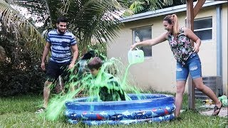 BEST SLIME PRANK ON OUR LITTLE COUSIN !!