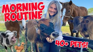 My Winter Morning Routine WITH THE NEW BARN 2020! 40+ Pets! |  *SUPER CUTE ANIMALS*