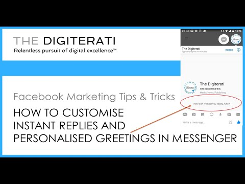 How to customise instant replies & personalised Messenger