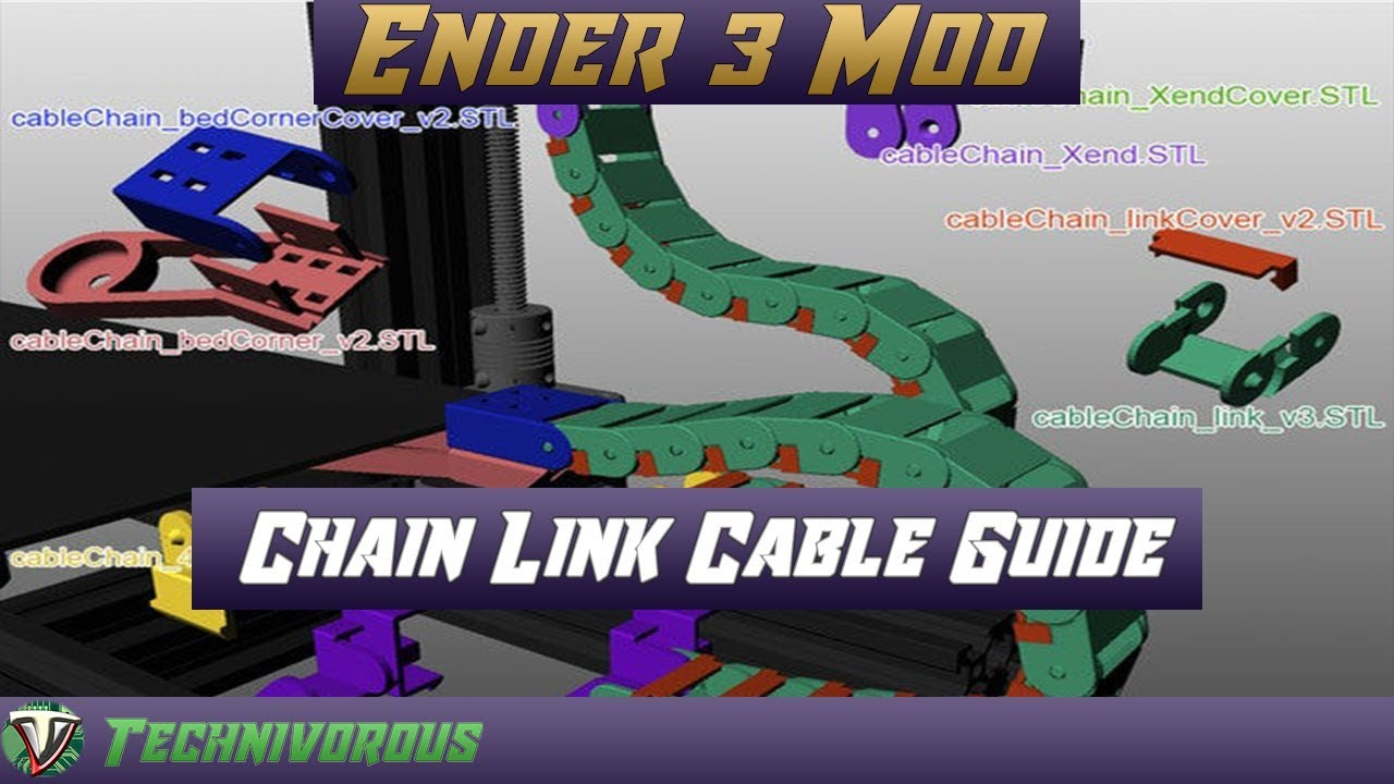 Ender 3 Pro Mod HOW TO – AMAZING Chain link Cable Guide – UPGRADE